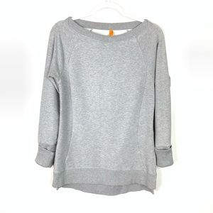 Lucy | Space Gray Athletic Sweatshirt Size Small